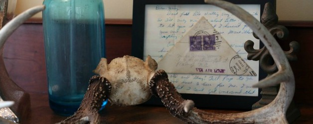 Antlers Seltzer Bottle and World War II letter