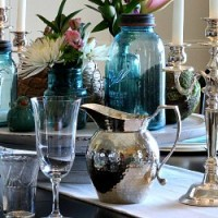 FEATURED Atta Girl Says Easter Dining Room Table with China and Mason Jars
