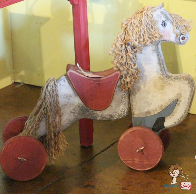 antique child's rocking horse toy