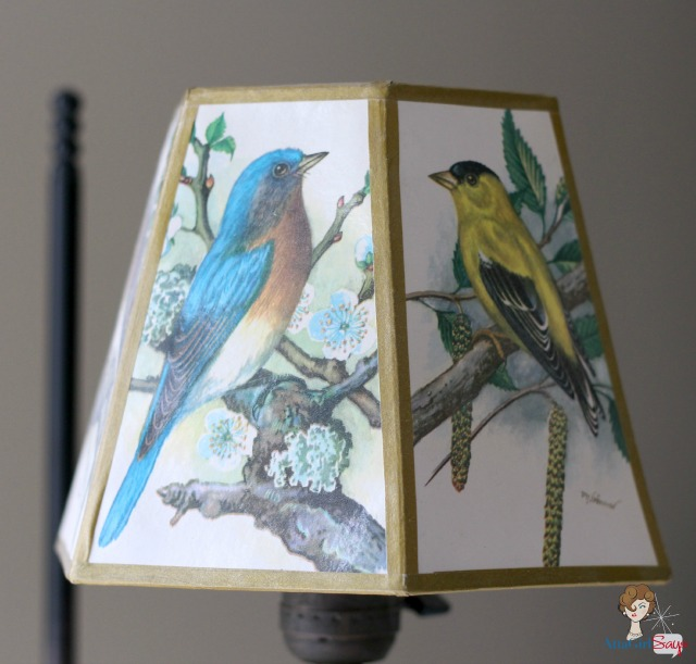 vintage wrought iron bird lamp