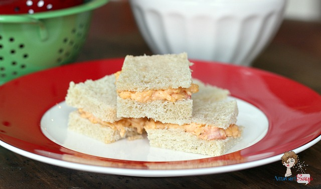 Homemade Pimento Cheese on White Bread