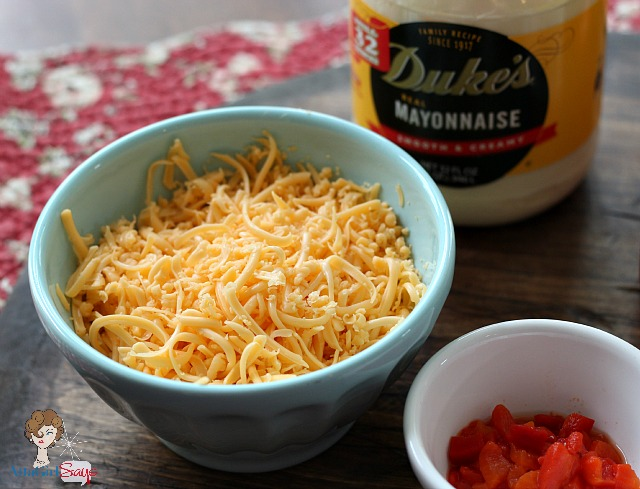 Shredded American Cheese & Duke's Mayonnaise The Secret to Great Homemade Pimento Cheese