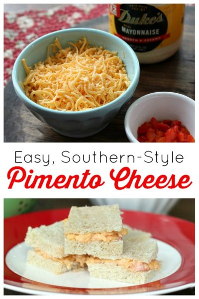 An easy pimento cheese recipe without cream cheese -- just three simple ingredients, plus a blend of spices. This southern-style pimento cheese is the tastiest sandwich spread you'll ever make