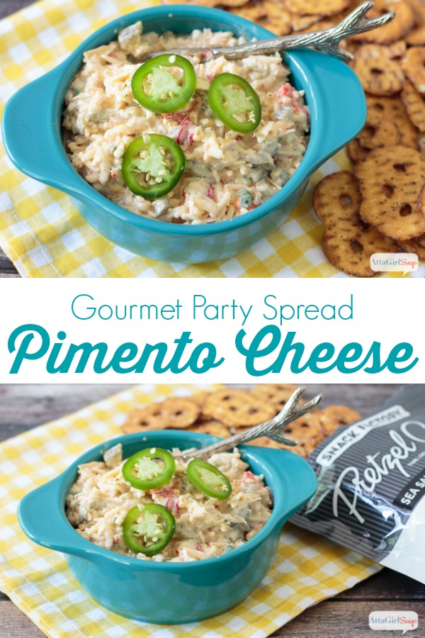 three cheese pimento cheese spread collage photo