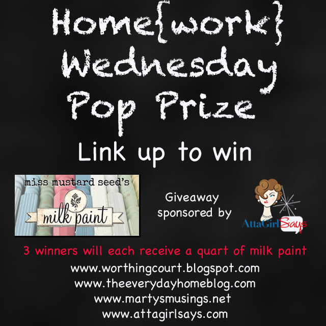 Link up and win - Miss Mustard Seed Milk Paint from AttaGirlSays.com