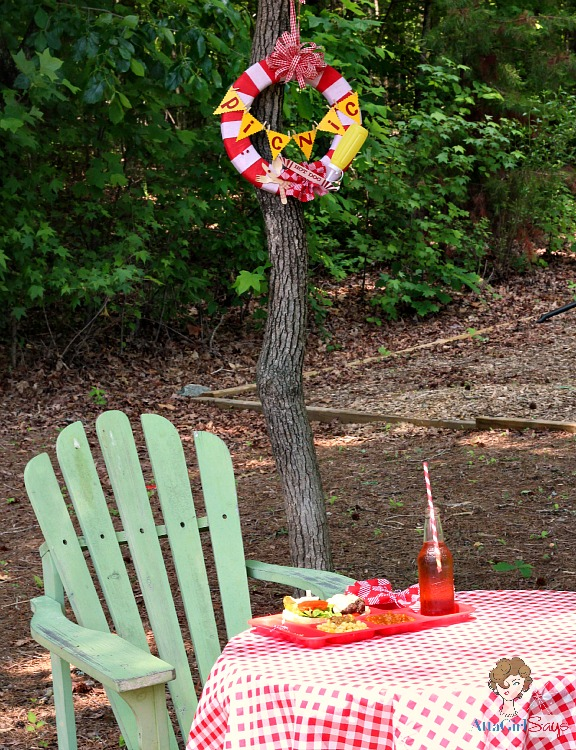 AttaGirlSays: Picnic Wreath Tutorial