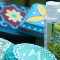 FEATURED Handpainted Faux Italian Tile Outdoor Coasters