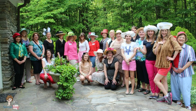 From Downtown to Downton Hometalk NC Bloggers Meetup Ladies in Hats