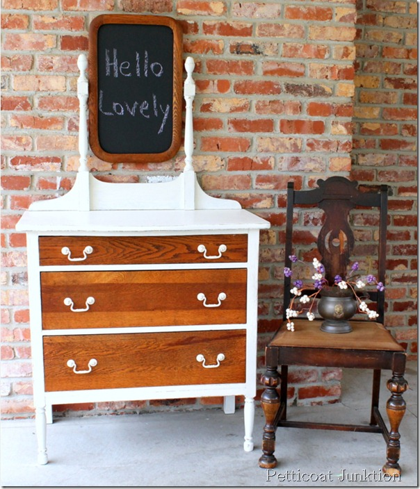 Petticoat Junktion oak dresser makeover