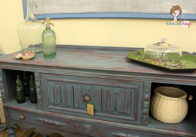 Kitchen Scale Milk Paint Buffet Styled