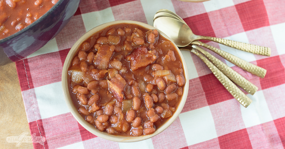Southern baked beans recipe with bacon and onions for Decor bacon cooker