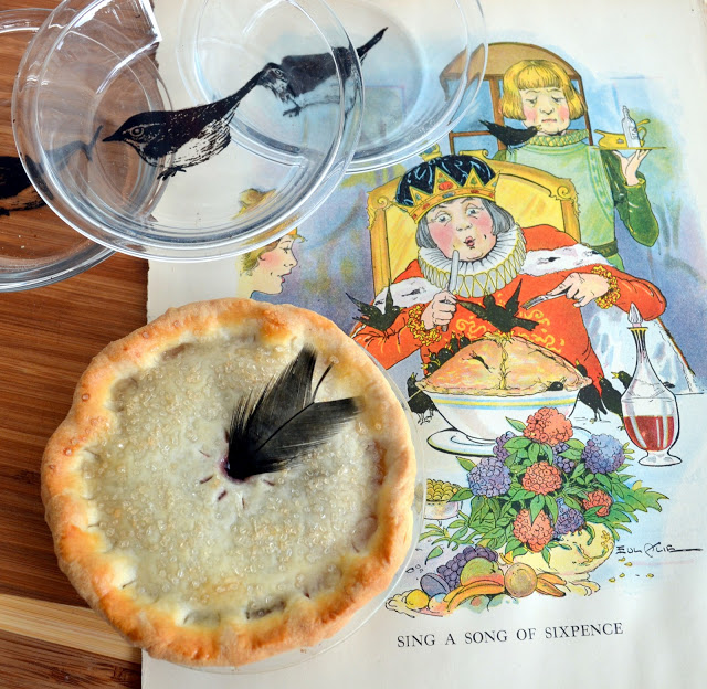 hand painted bird pie plate diy by Rook No. 17