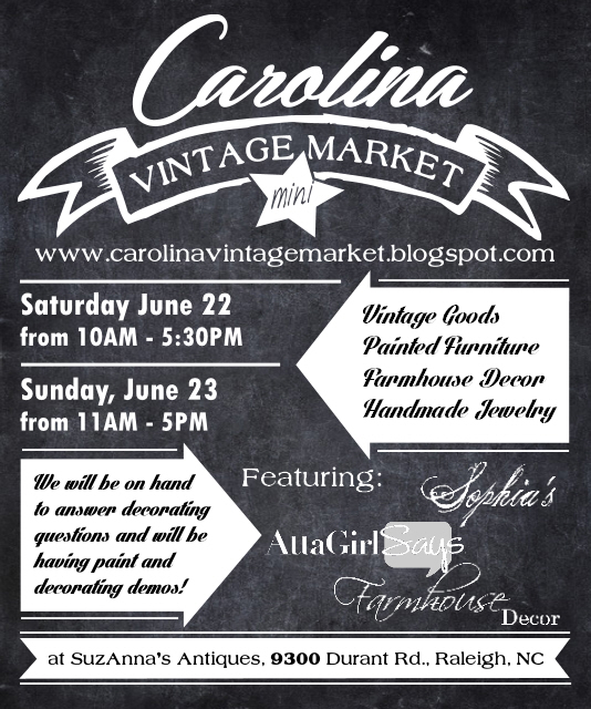 Carolina Vintage Mini Market Featuring Atta Girl Says Sophia's Decor and Farmhouse Decor