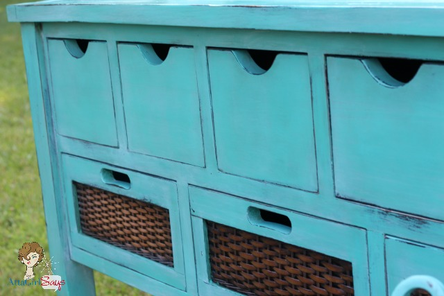 Atta Girl Says: Custom Aqua Blue Chalk Paint Buffett