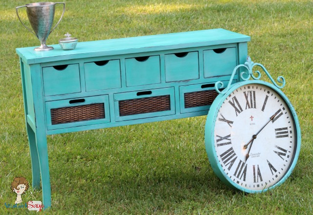 Atta Girl Says: Custom Handpainted Caribbean Blue Buffett and Clock