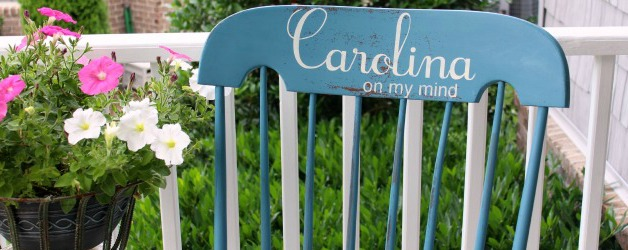 Errors & Alma Maters: The Story of My Hand-painted Carolina on My Mind Rocking Chair