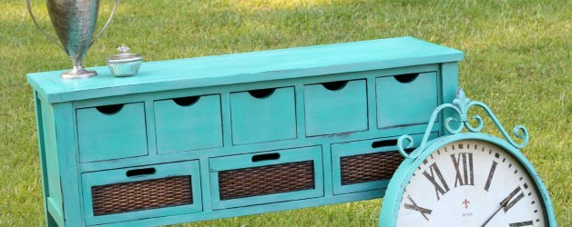 Custom Caribbean Blue Chalk Paint Buffet