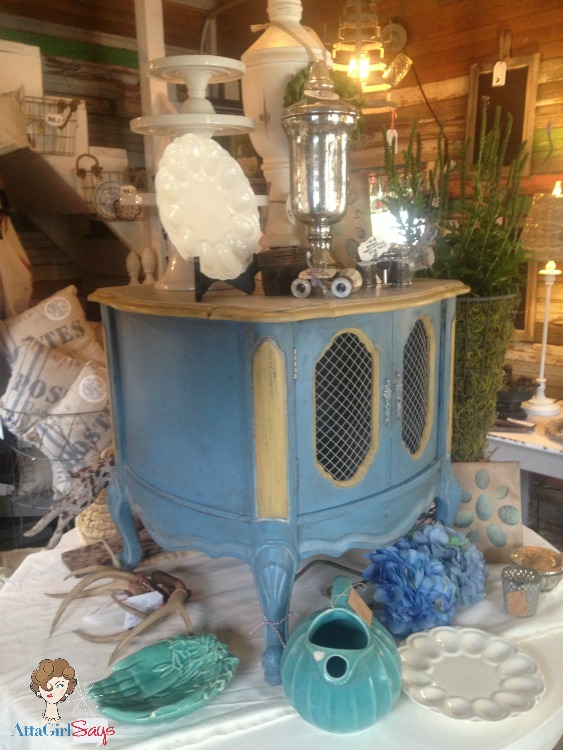 Atta Girl Says: French Milk Paint End Table by Atta Girl Says