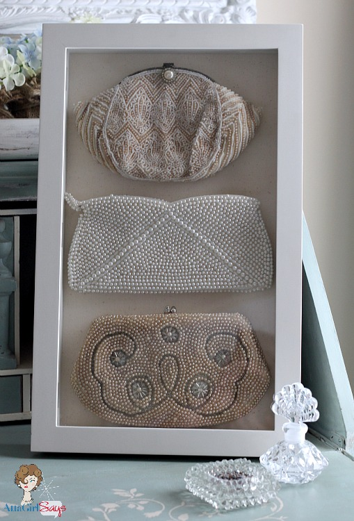 Atta Girl Says: Vintage Beaded Evening Bags Stored in a Shadowbox