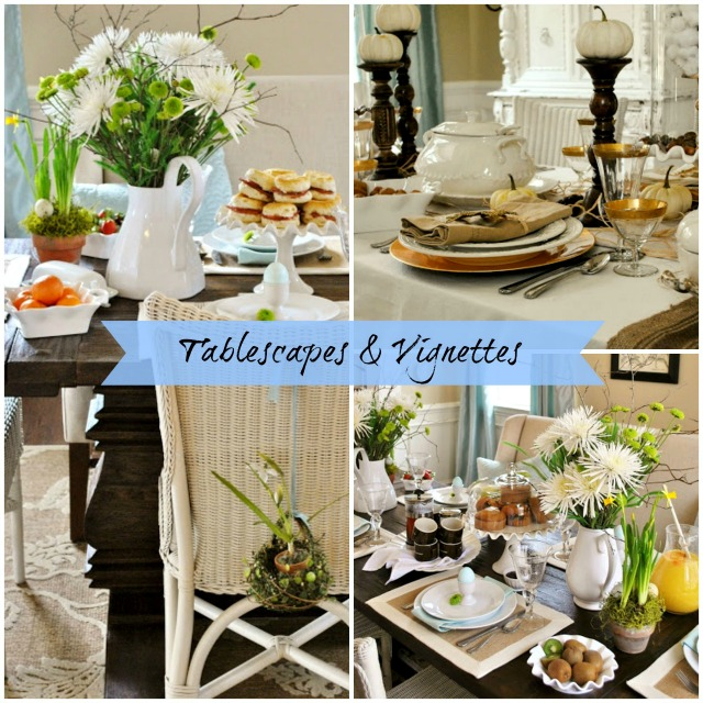 tablescapes and vignettes with Sophia's Decor