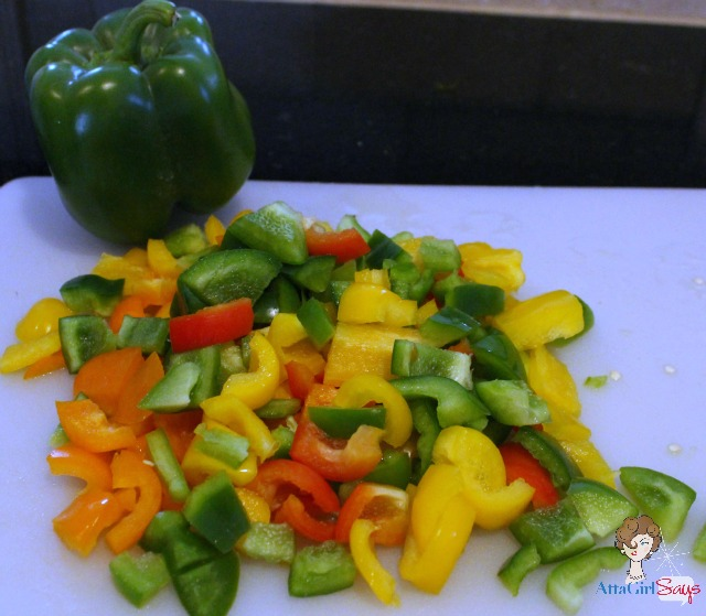 Chopping Peppers for Homemade Pepper Jelly