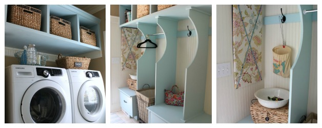 Atta Girl Says: Beadboard and Blue Cottage Style Laundry Room and Mudroom