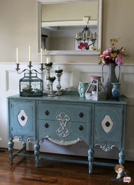 Duck egg blue sideboard images for Painted foyer tables