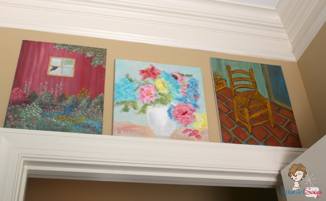 Atta Girl Says: Laundry Room Renovation Clever Ways to Display Artwork