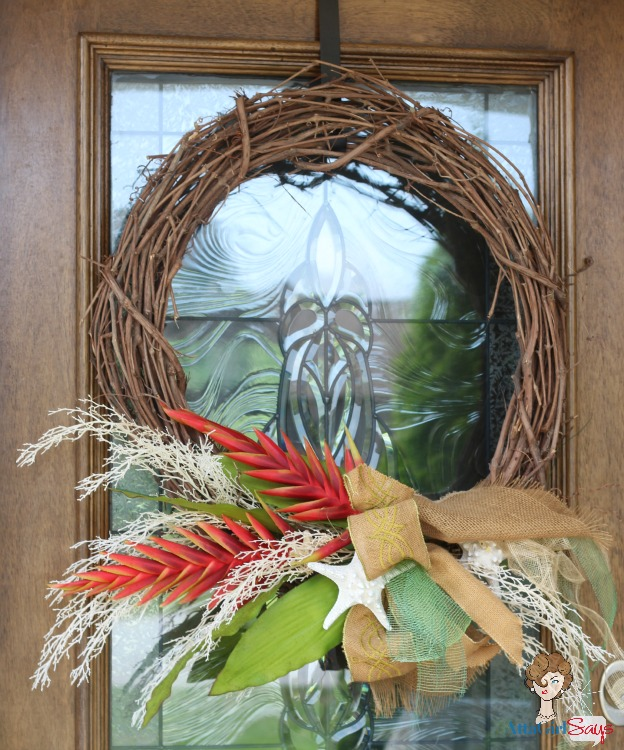 Atta Girl Says: Summer Tropical Wreath