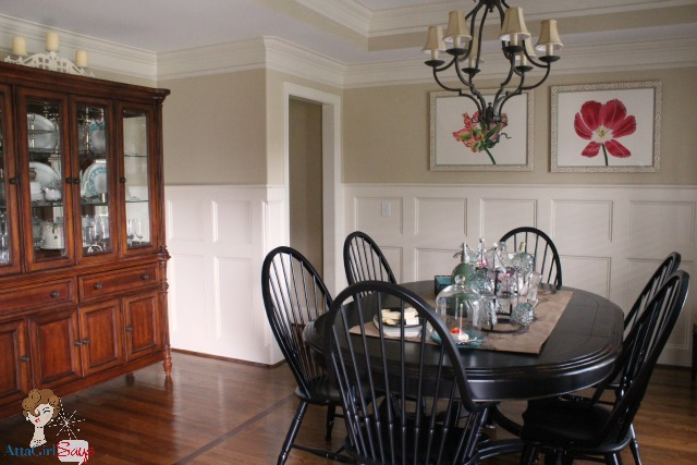 A stroll thru life show off inspire atta girl for Dining room wainscoting