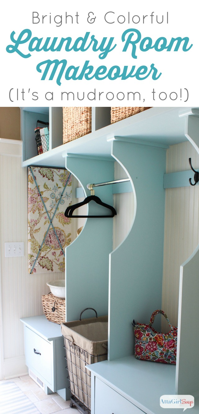 Bright & Colorful Laundry Room Ideas with Built-In Storage