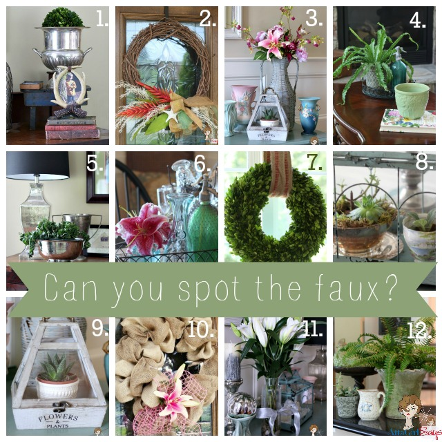 Faux or no rules for decorating with fake plants for Real plants for home decor