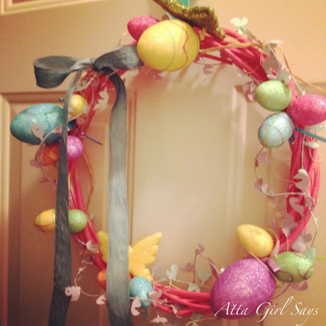 Atta Girl Says: Dollar Store Easter Grapevine Wreath