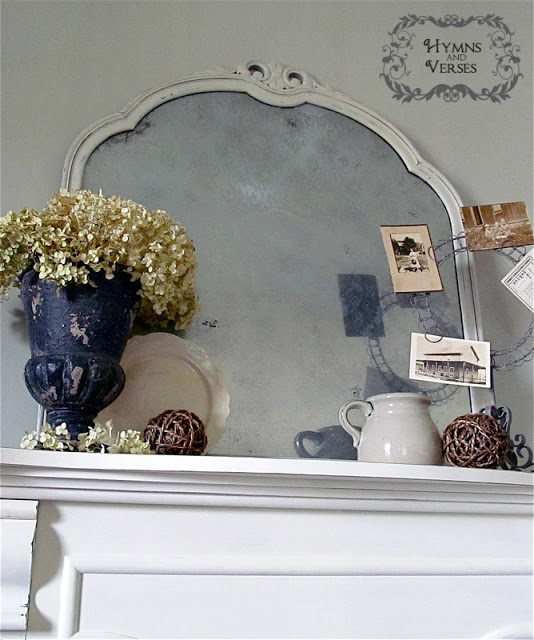 Vintage Lace Anthropologie Knockoff Mirror by Hymns and Verses