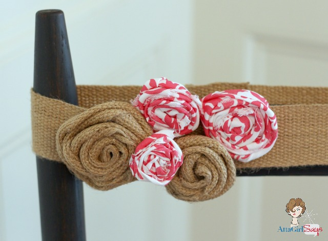 Scrap Fabric and Jute Rosettes