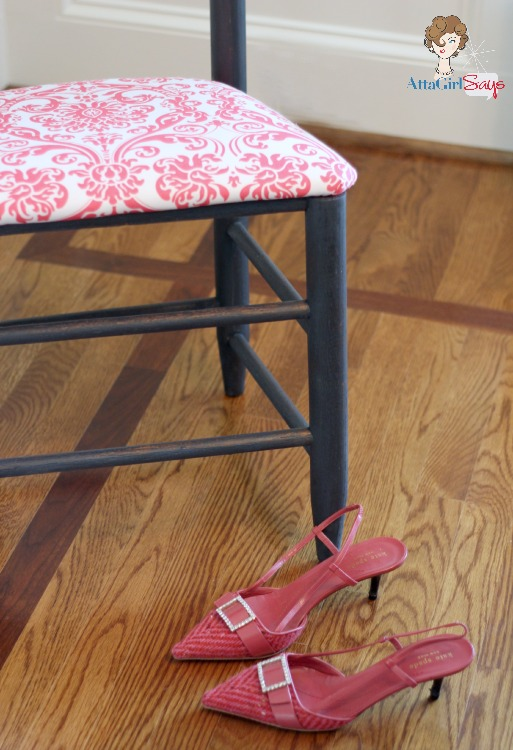 Fashion Inspired Blue and Coral Milk Paint Chair Makeover