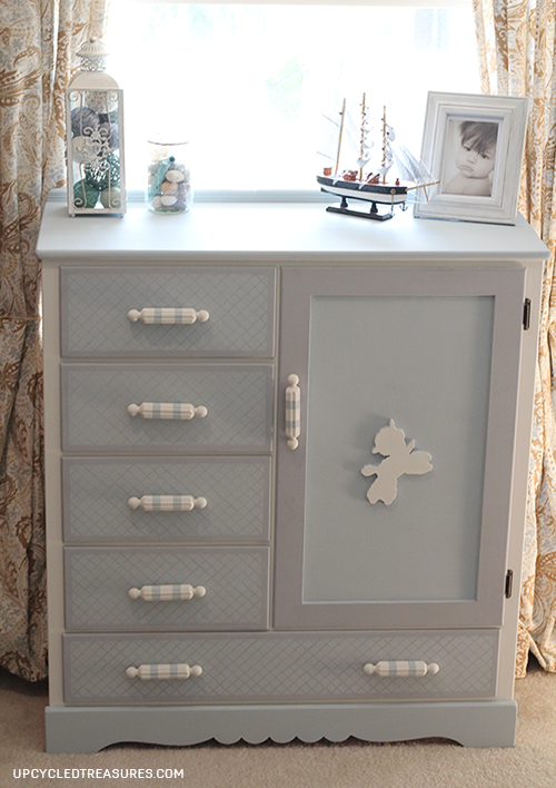 Kids Painted Dresser Makeover by Upcycled Treasures