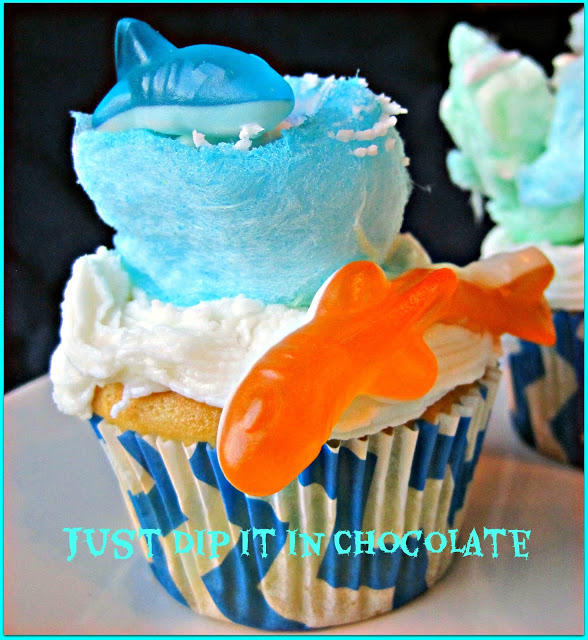 Sharknado Cupcakes by Just Dip It in Chocolate