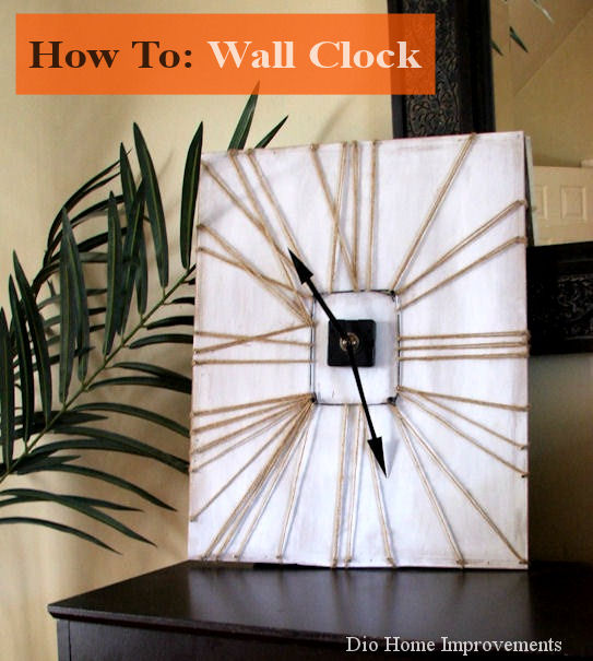 Wall Clock with Twine by Dio Home Improvements