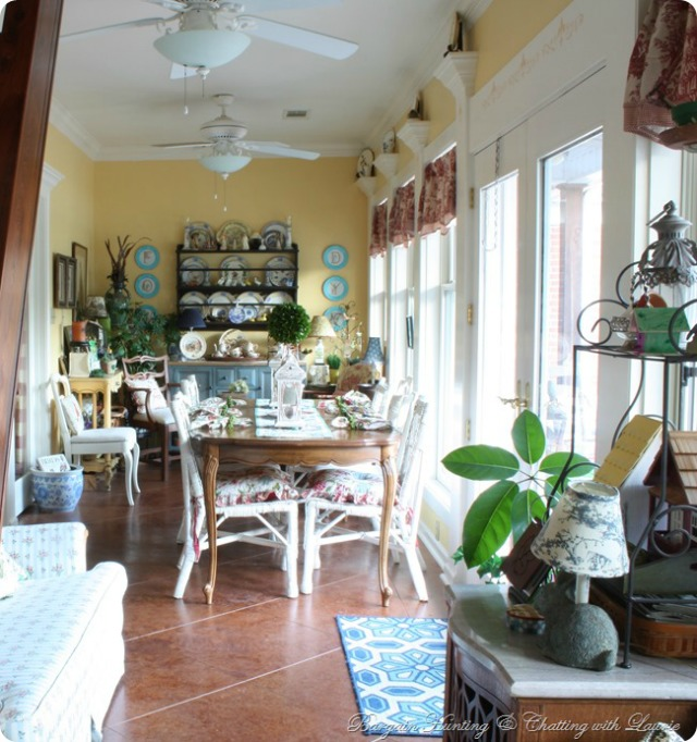 Sunroom Changes by Bargain Hunting with Laurie