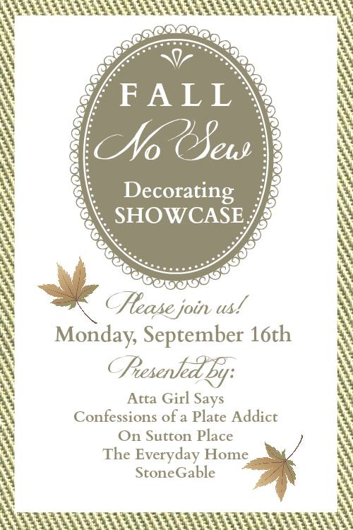 Fall No-Sew Decorating Showcase