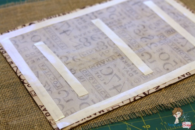 Burlap and Utility Cloth No-Sew Fall Placemat & Napkin Ring