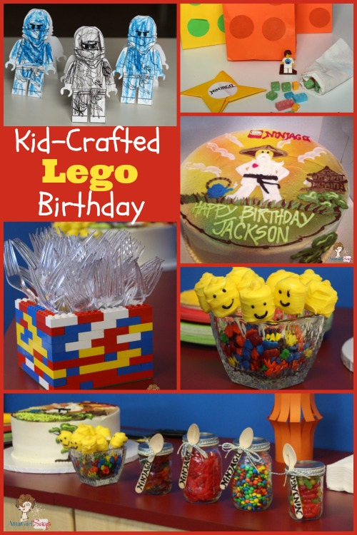 Kid Crafted Lego Birthday Party