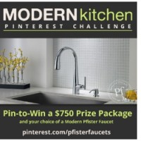 Win a Pfister Faucet in the Modern Kitchen Pinterest Challenge