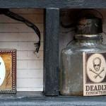 3D Cabinet of Curiosities Halloween Sign Mod Podge Craft