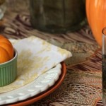 Casual Fall Tablescape with Owl Glasses