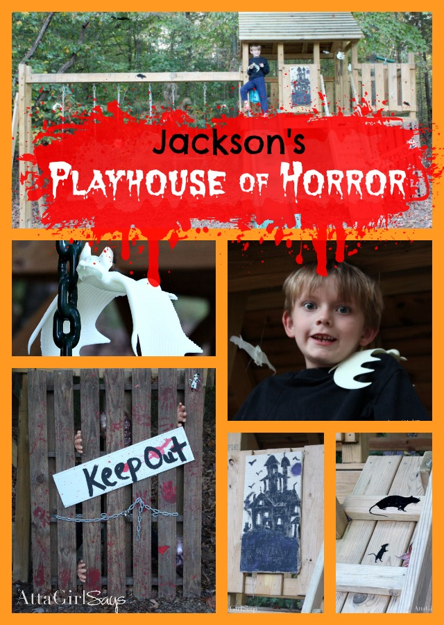 Jackson's Playhouse of Horror's Halloween Decor at Atta Girl Says