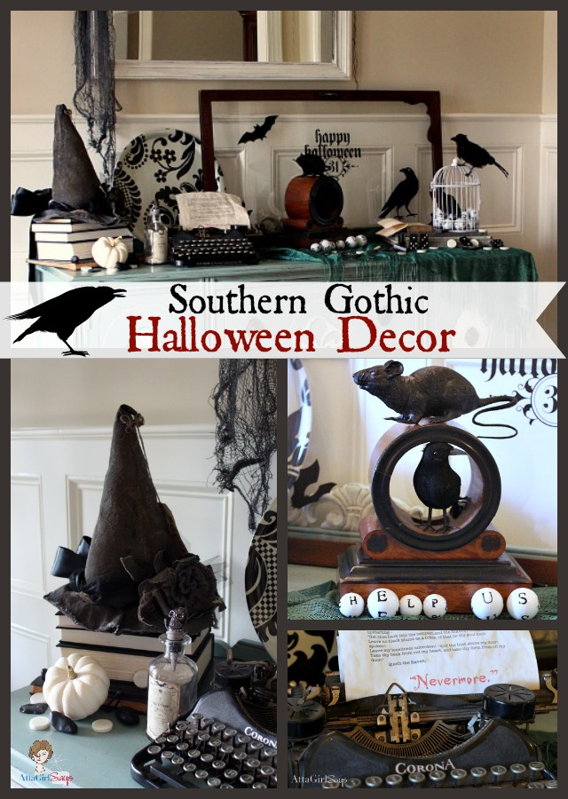 Gothic Ghastly Gory Halloween Decorating Ideas Atta Girl Says
