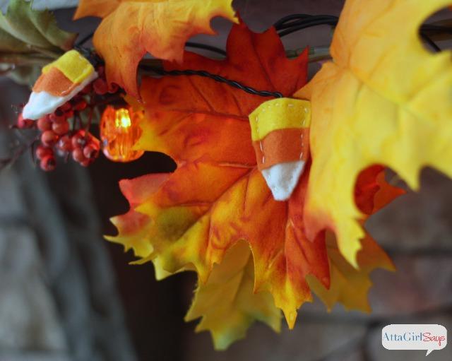Make a Felt Candy Corn Light Garland for Halloween