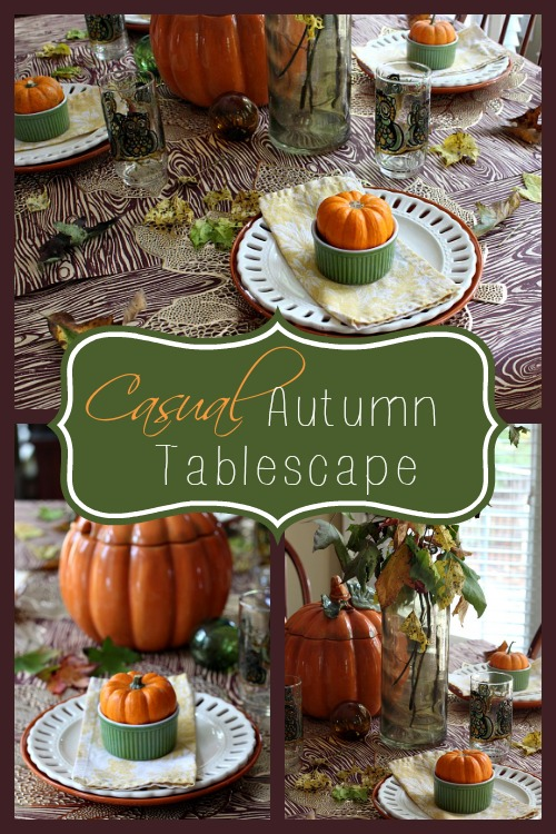 Casual Fall Tablescape for Sunday Dinner